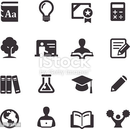 Higher Education Icons Acme Series Stock Vector Art & More