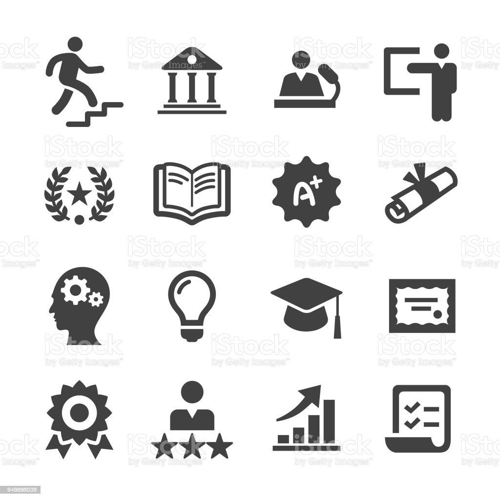Ícones de educação superior a Acme Series - ilustração de arte em vetor