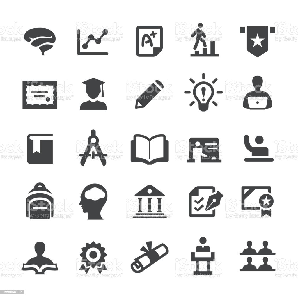 Higher Education Icons - Smart Series vector art illustration