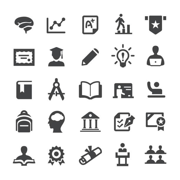 higher education icons - smart series - university stock illustrations, clip art, cartoons, & icons