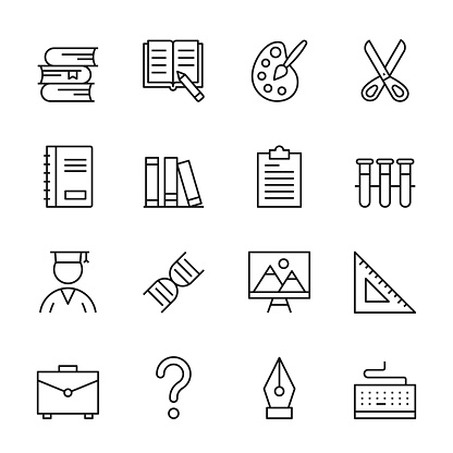 Higher Education Line Icons