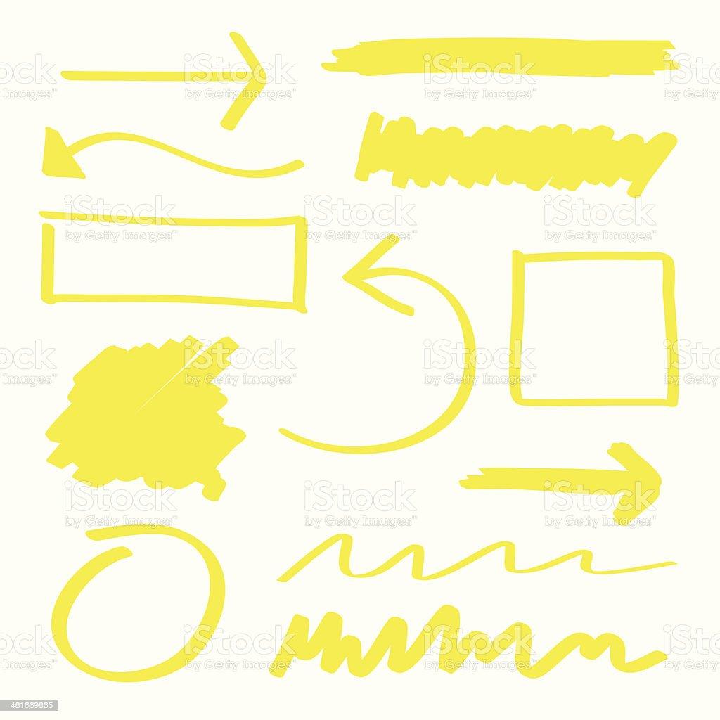 Surligneur éléments - Illustration vectorielle