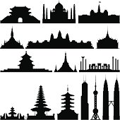 Highly Detailed Asian Monuments