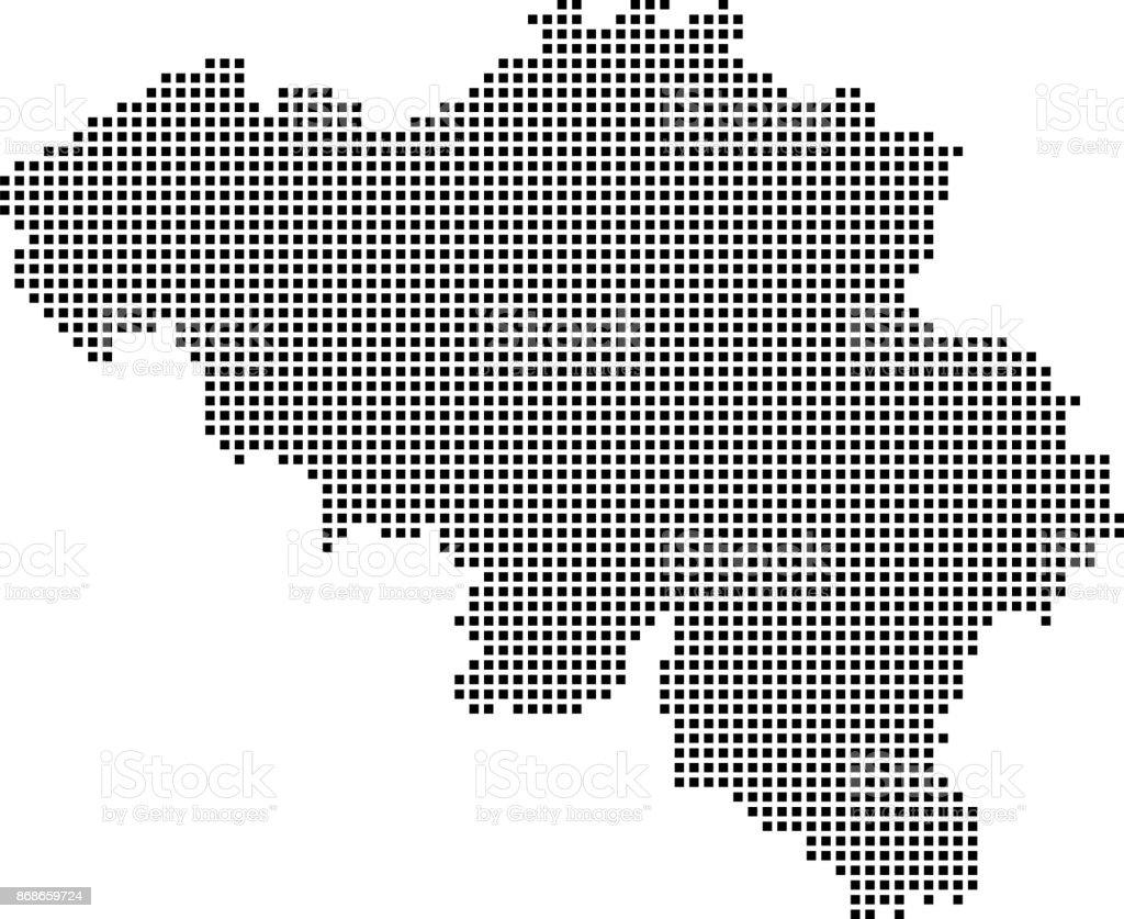 Carte Belgique Noir Et Blanc.Points De Carte Belgique Tres Detaillees Belgique Carte