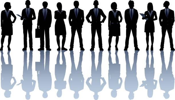 非常に詳細なビジネス人々 - 背景に人点のイラスト素材/クリップアート素材/マンガ素材/アイコン素材