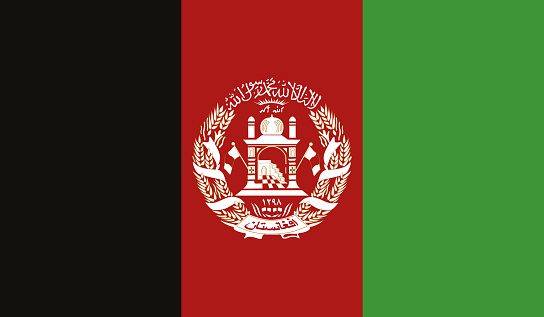 Highly Detailed Flag Of Afghanistan - Afghanistan Flag High Detail - Vector of Afghanistan flag. EPS, Vector