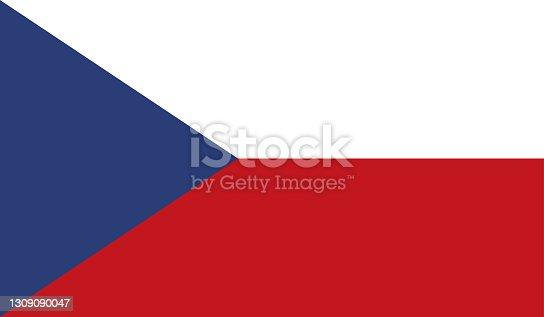 istock Highly Detailed Flag Of Czech Republic - Czech Republic Flag High Detail - Vector of Czech Republic flag. EPS, Vector 1309090047