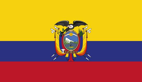 Highly Detailed Flag Of Ecuador - Ecuador Flag High Detail - Vector of Ecuador flag. EPS, Vector