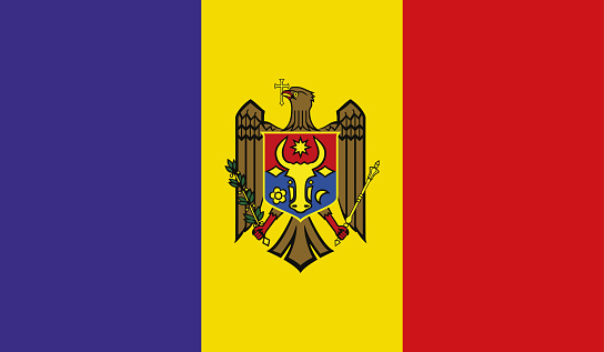 Highly Detailed Flag Of Moldova - Moldova Flag High Detail - National flag Moldova - Vector of Moldova flag, EPS, Vector