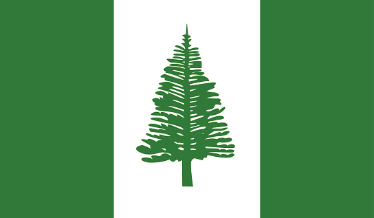 Highly Detailed Flag Of Norfolk Island - Norfolk Island Flag High Detail - National flag Norfolk Island - Vector of Norfolk Island flag, EPS, Vector