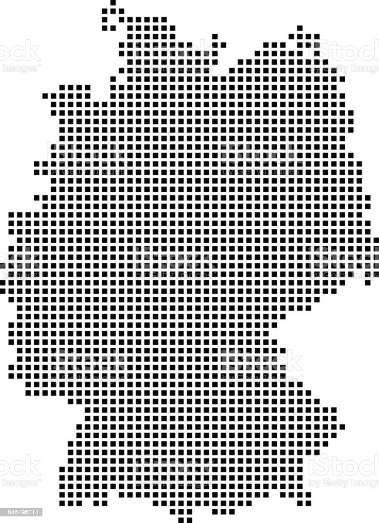 Highly Detailed Germany Map Dots Dotted Germany Map Vector Outline - Germany map vector