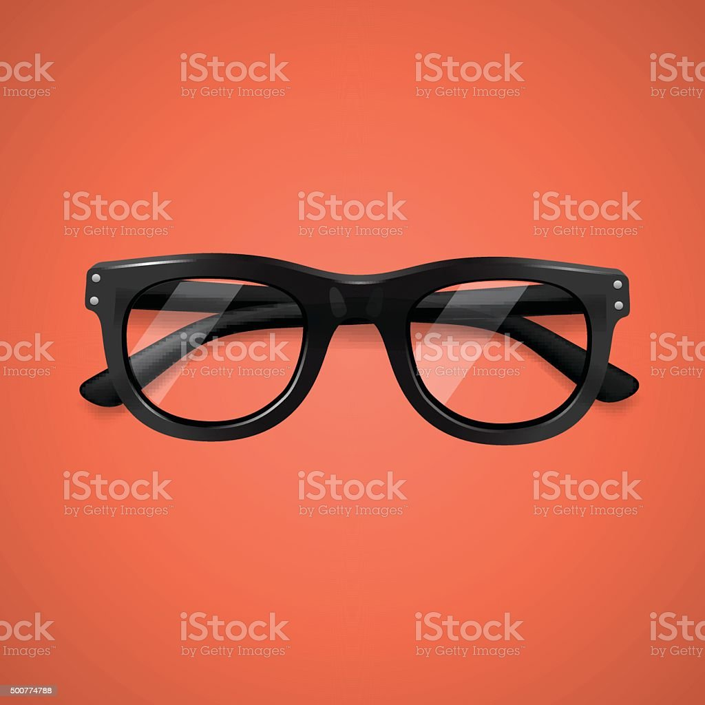 Highly detailed glasses icon vector art illustration