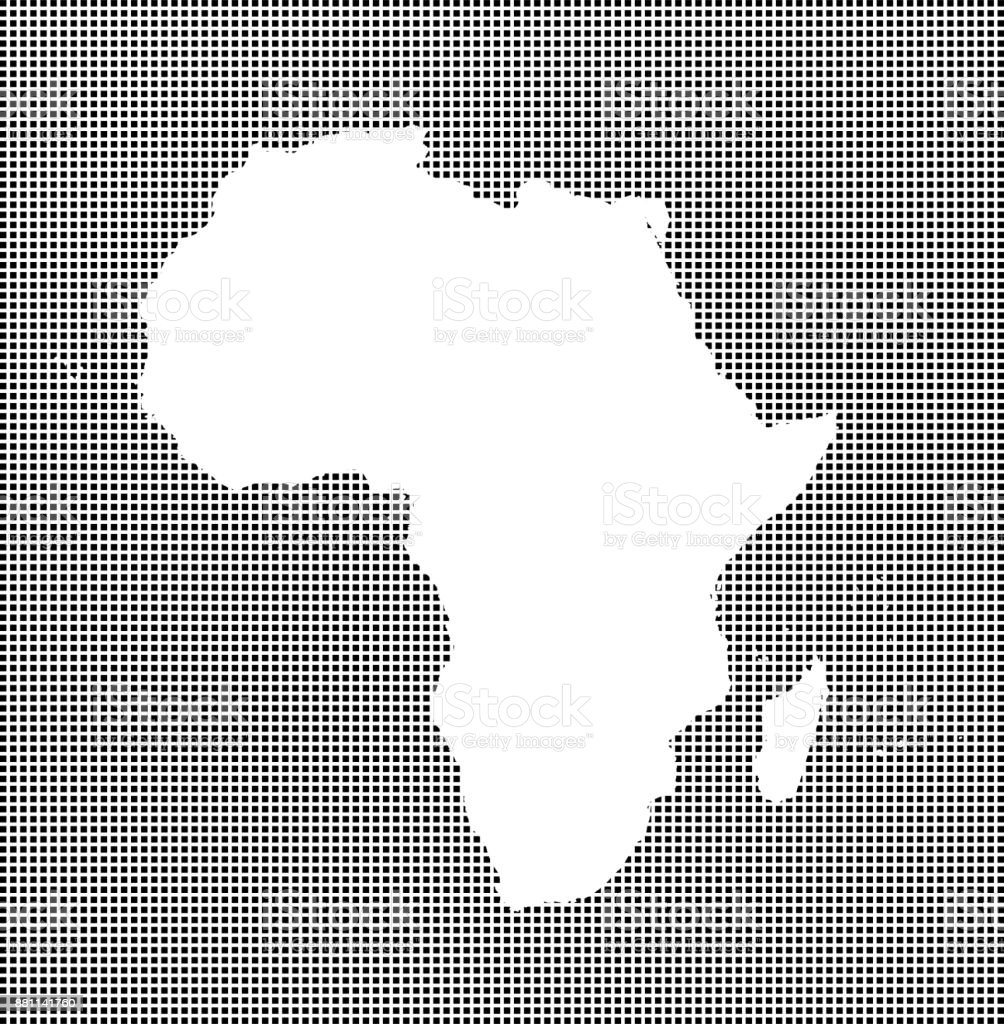highly detailed map of africa continent on dotted background africa map vector outline cartography