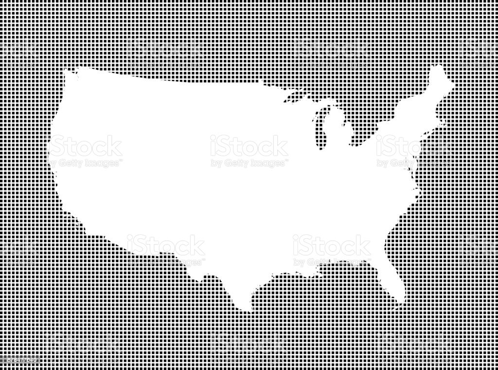 Detailed Map Of Usa.Highly Detailed Map Of Usa On Dotted Background Usa Map Vector