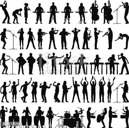 Excellent value file: highly detailed musician silhouettes.