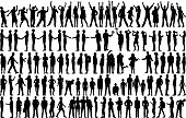 Highly detailed people silhouettes.