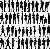Highly Detailed People Silhouettes