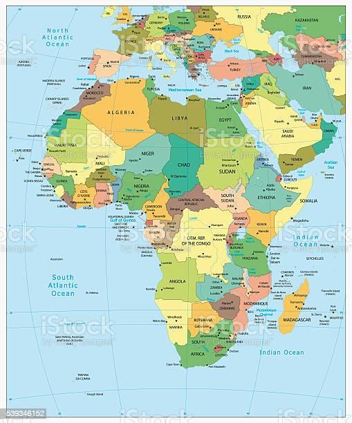 Cartina Dell Africa Fisica E Politica.Altamente Dettagliata Carta Politica Dellafrica Immagini Vettoriali Stock E Altre Immagini Di Affari Istock