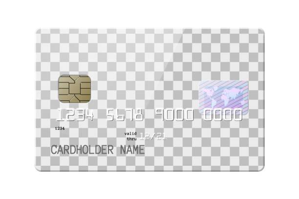 bildbanksillustrationer, clip art samt tecknat material och ikoner med mycket detaljerade realistiska blanka kreditkort - potatischips