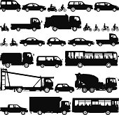 Vehicle silhouettes. Zoom in to see the detail!