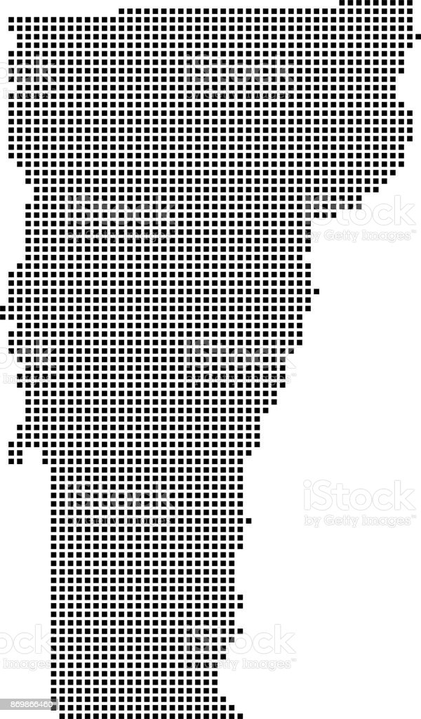 highly detailed vermont map dots dotted vermont state of usa map vector outline pixelated