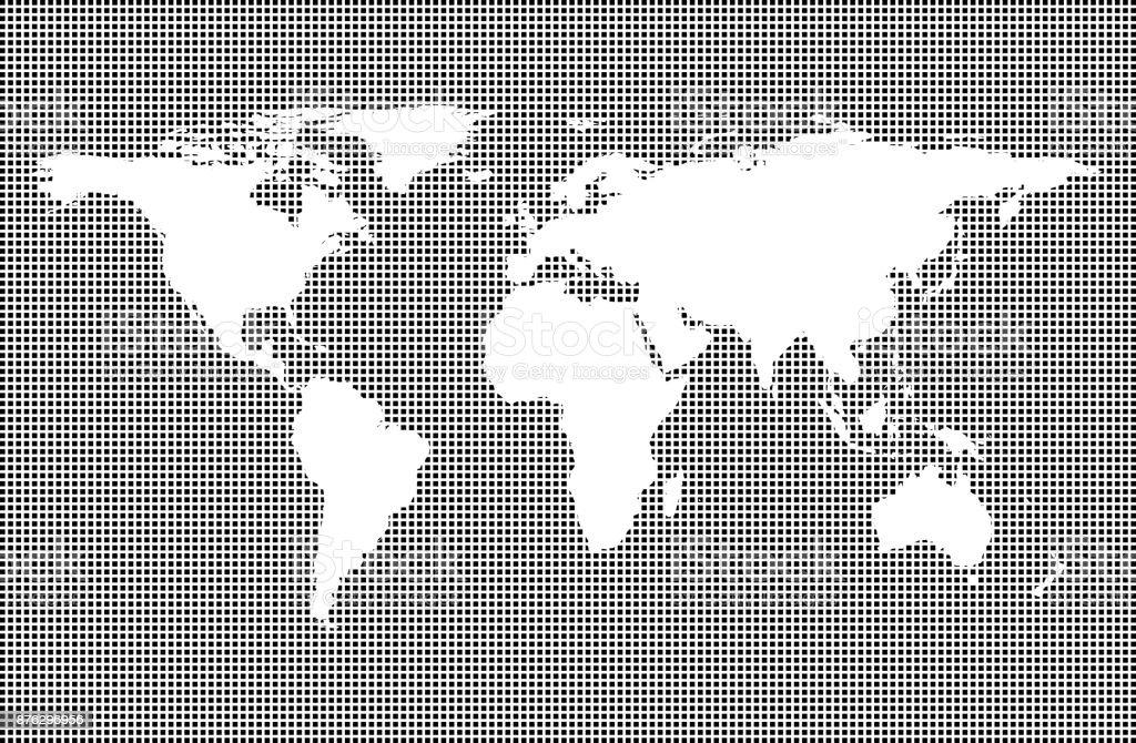 Sehr Detaillierte Weltkarte Auf Gestrichelten Hintergrund Welt Karte