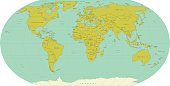 Highly detailed World Map. Vector