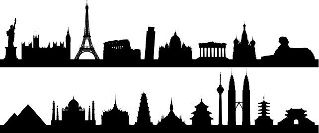 Highly Detailed World Skyline