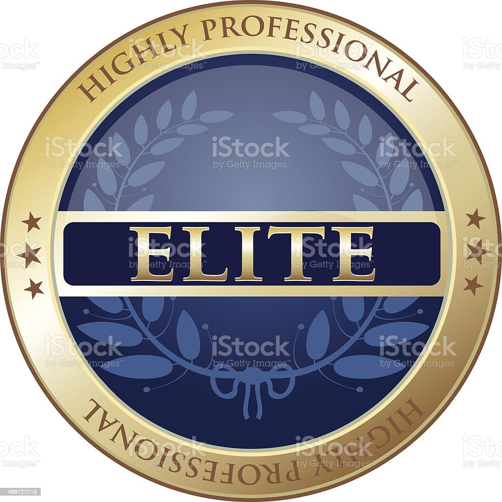 Highly Professional Elite Label vector art illustration