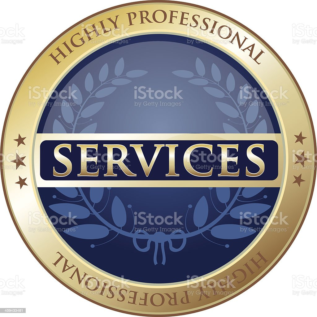 Highly Professional Services royalty-free stock vector art