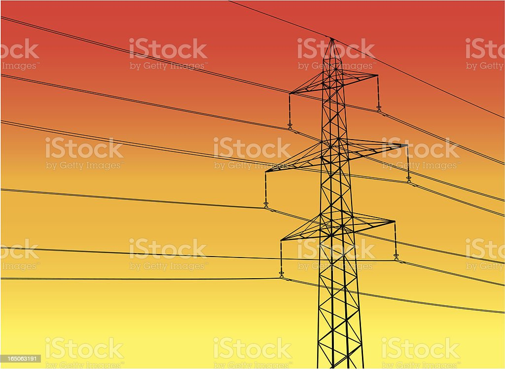 high-power pole royalty-free stock vector art