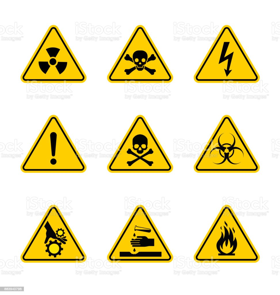 High-quality detailed warning sign. Vector illustration. Precisely designed.