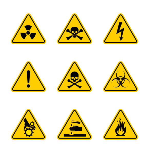 High-quality detailed warning sign. Vector illustration. Precisely designed. Use it for your design. Also suitable for digital and printing use. poisonous stock illustrations