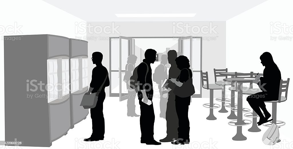 HighSchool Corridor royalty-free stock vector art
