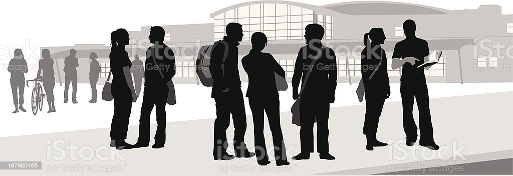 HighSchool Friends vector art illustration
