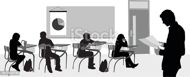 istock Highschool Substitute Teacher 511543740