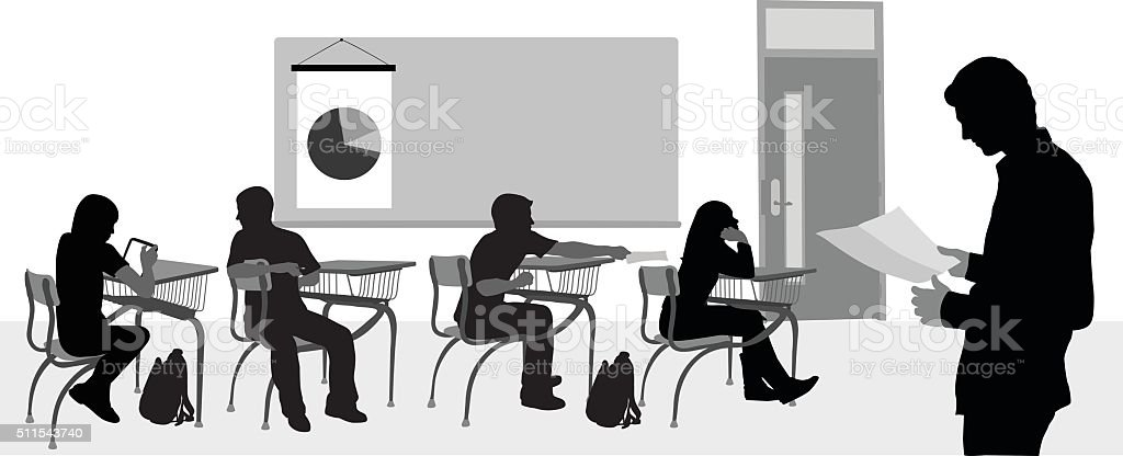 Highschool Substitute Teacher vector art illustration