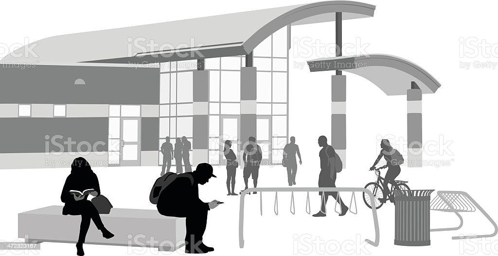 Highschool vector art illustration