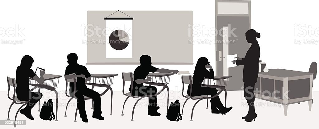 HighschoolClass vector art illustration