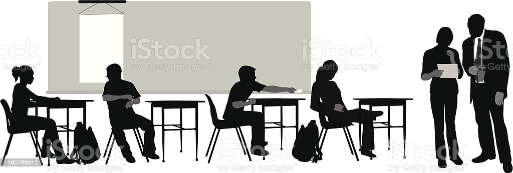 HighScool Teacher Vector Silhouette royalty-free highscool teacher vector silhouette stock vector art & more images of black color
