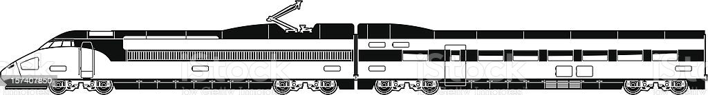 high-speed train royalty-free highspeed train stock vector art & more images of black and white