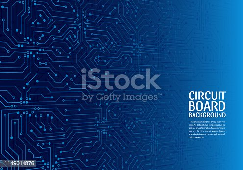 High-tech technology abstract background. Abstract 3D circuit board. Futuristic vector illustration.