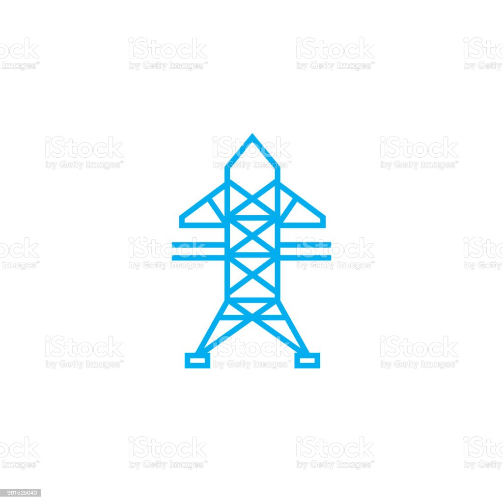 Highvoltage Networks Linear Icon Concept Highvoltage Networks Line