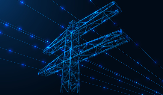 High-voltage power line.