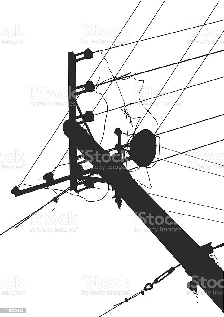 High-voltage wire royalty-free stock vector art
