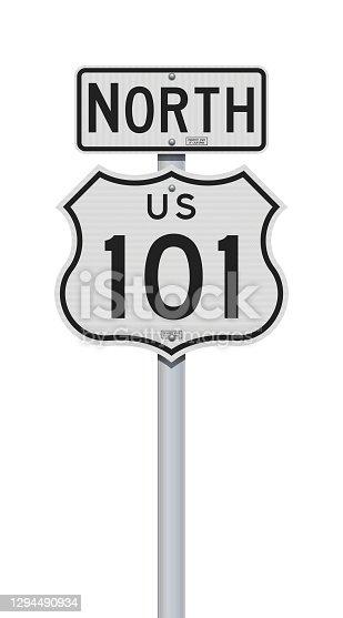 istock US Highway 101 California road sign 1294490934