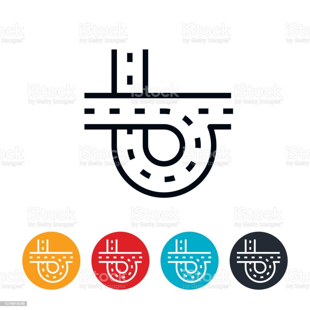 Highway Icon vector art illustration