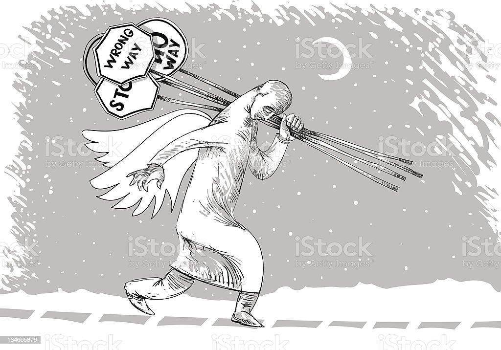 Highway Patrol vector art illustration