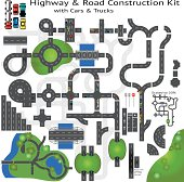 Highway Road Building Construction Kit