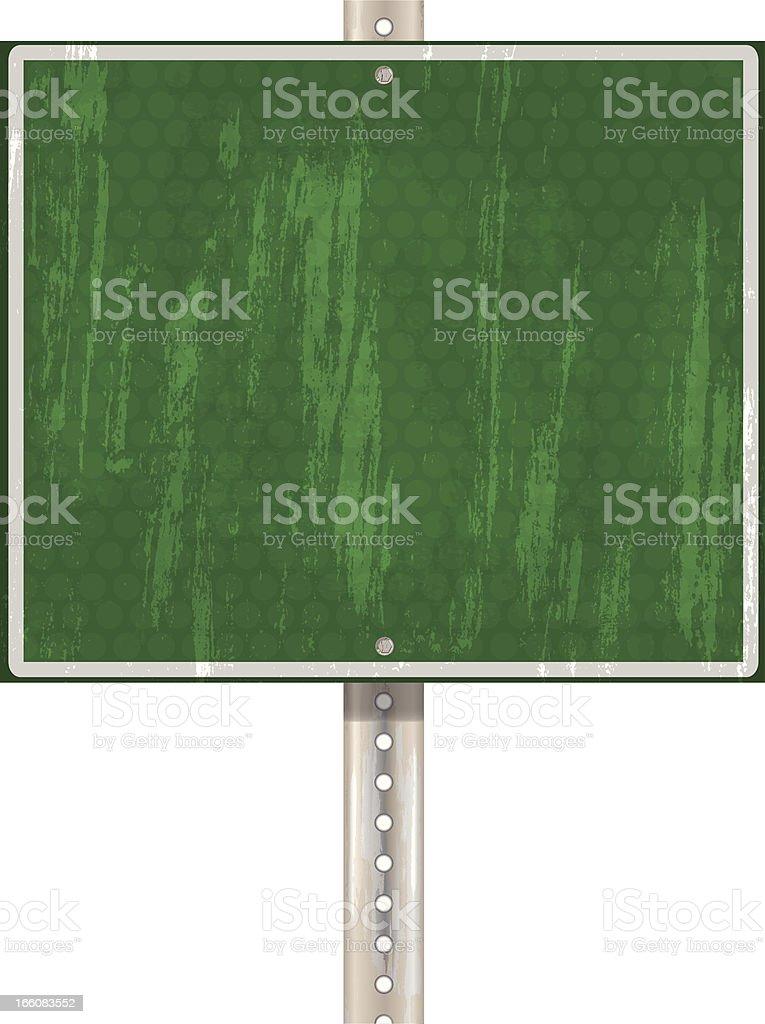 Highway Sign Metal Post royalty-free stock vector art